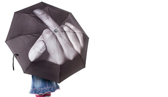 The fuck the rain umbrella