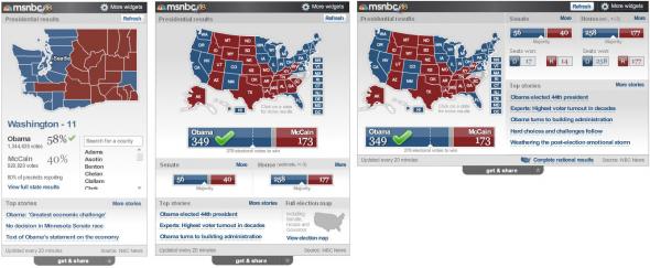 msnbc election 08 widgets