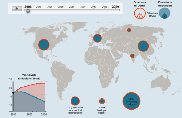 EDF CO2 emission prediction map