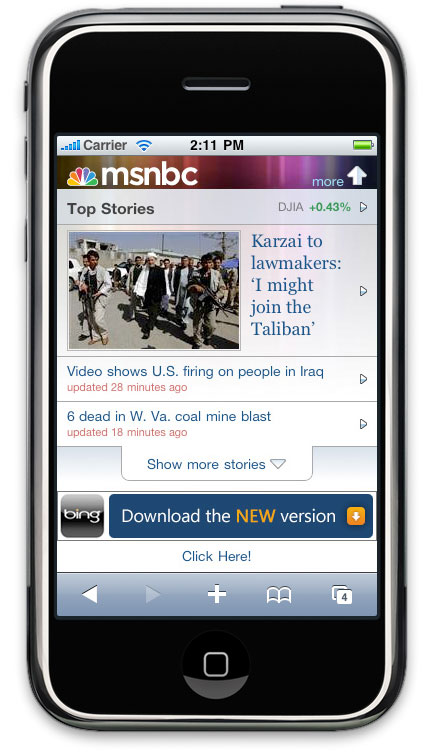 msnbc new mobile front