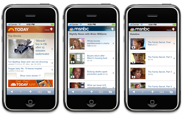 msnbc show fronts new mobile site