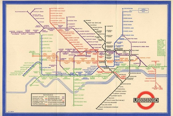 UK subway map